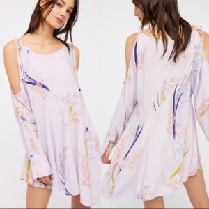 free people clear skies lilac tunic dress